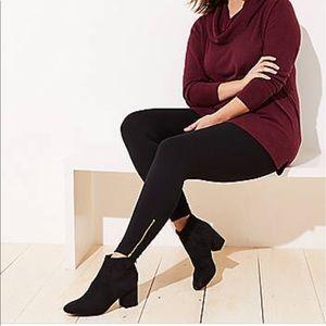 Loft Plus Leggings with Ankle Zip